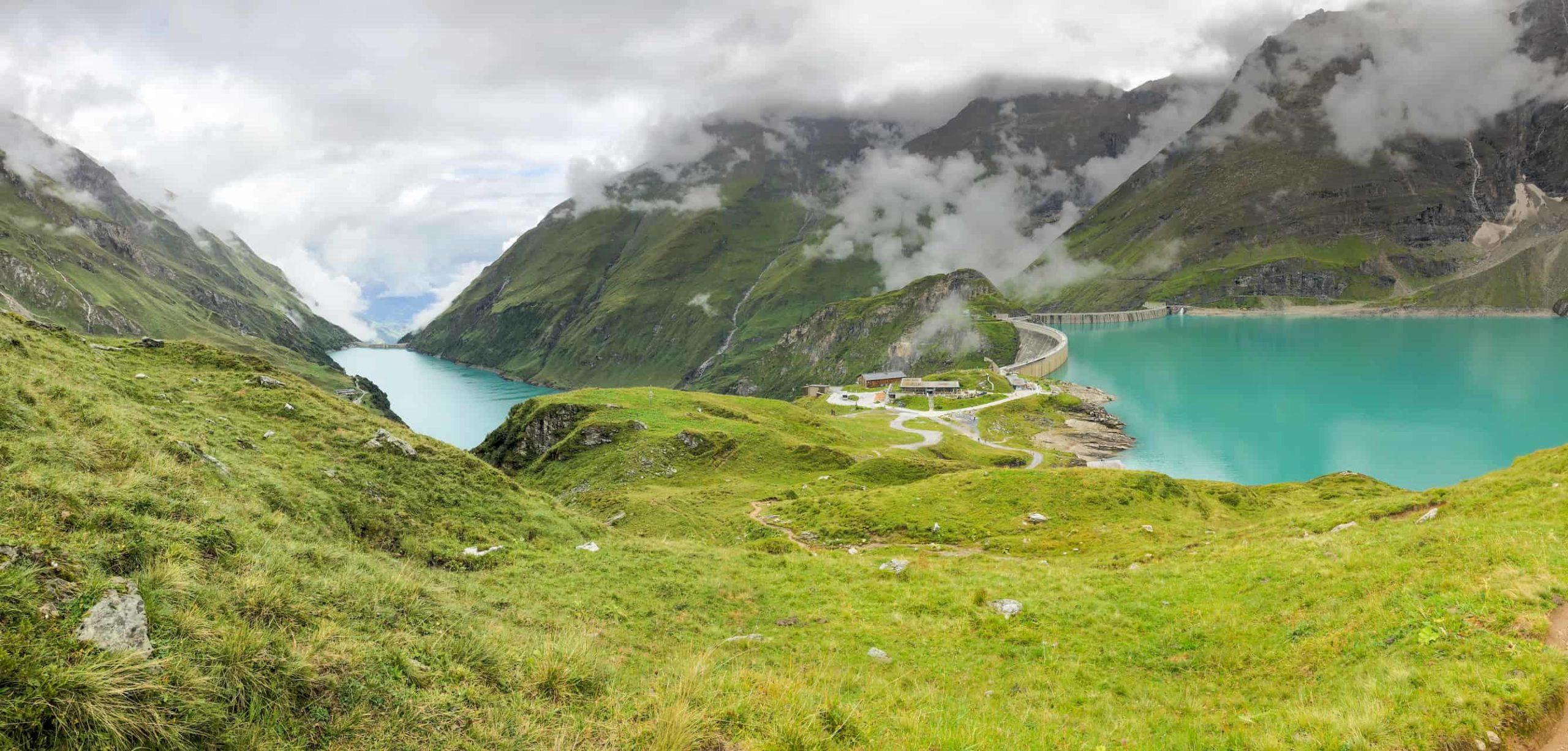 Hüttenurlaub im Sommer: Stausee Mooserboden Berge Kaprun